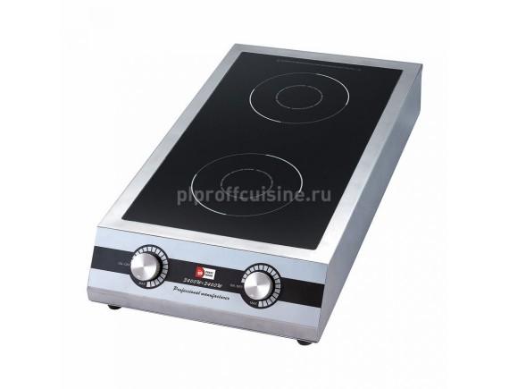 Индукционная плита -двойная 7000W (380v-50Hz) (70х40,5х13,5 cм), Proff Cuisine (99005075)