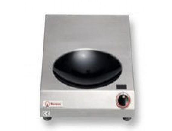 Плита индукционная настольная вок D300 (INDUKTIONSWOK FLACH,3,5 кВт 230 В ,400x665x120), Berner (BFW3,5)