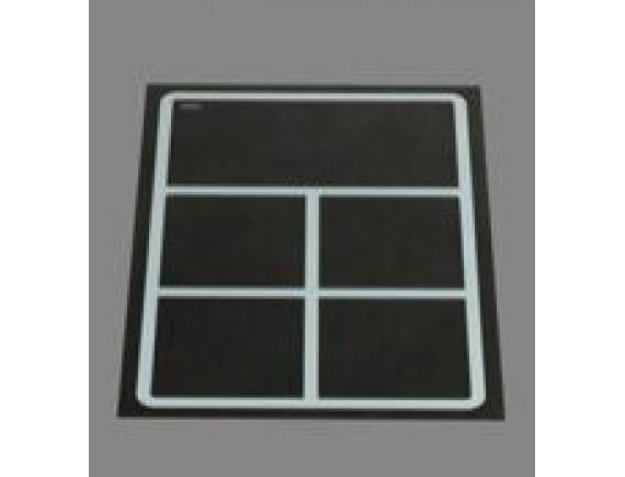 Плита индукционная встраивамая quadr320 4катушки, удержание тепла, доготовачная зона350х160 (EINBAUGTRAT INDUKTION,8 кВт 400 В ,388х560х6), Berner (BI1EGSF8)