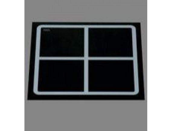 Плита индукционная встраивамая quadr370 4катушки (EINBAUGTRAT INDUKTION,12 кВт 400 В ,430x430x6), Berner (BI1EGSM1)