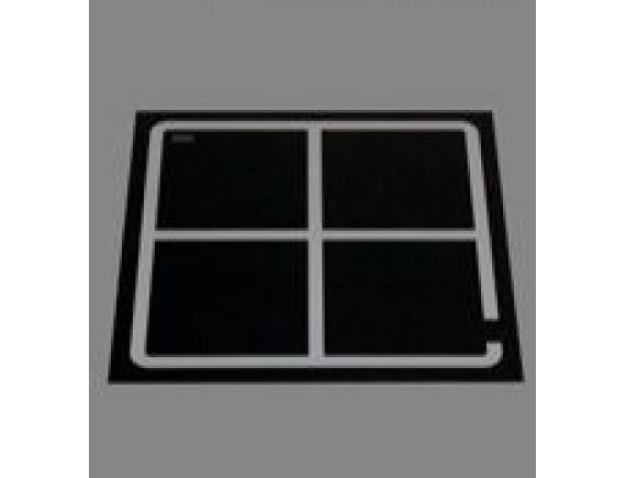 Плита индукционная встраивамая quadr320 4катушки (EINBAUGTRAT INDUKTION,8 кВт 400 В ,388X388X6), Berner (BI1EGSP)