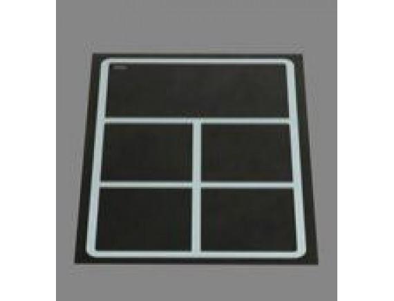 Плита индукционная встраивамая quadr320 4катушки, удержание тепла, доготовачная зона350х160 (EINBAUGTRAT INDUKTION,9 кВт 400 В ,388х560х6), Berner (BI1EGSPW)