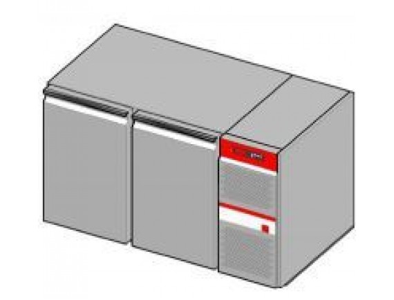 Холодильный стол 270л. 2 дверь (-15/+10) (GKM137111,1,9/24ч кВт  230 В ,1246х675х710), Salvis (GK600106)