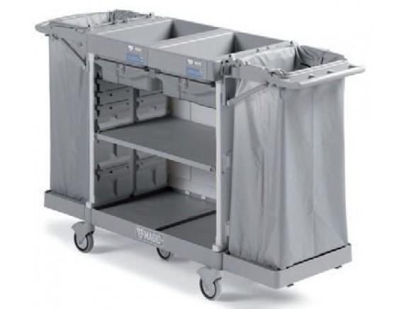 Тележка для горничных универсальная, с полкой для белья, обслуживает 8/10 комнат. (MH890B0T0MMV4)