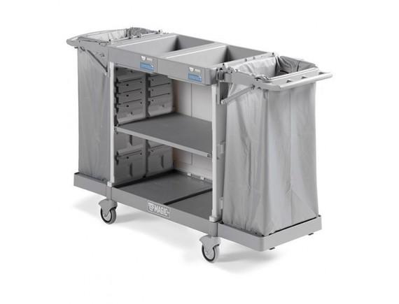Тележка для горничных универсальная, с полкой для белья, обслуживает 8/10 комнат. (MH890B0T0V00)