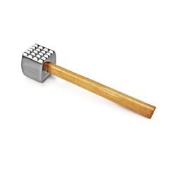 Молоток для мяса кухонный, 32 см, алюминий, деревянная ручка, Henry. (MT-AL)