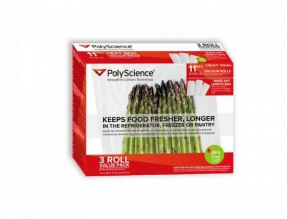 Термосварочные вакуумные гофрированные рулоны,  упаковка 3 рулона, PolyScience. (PSC-VBR-1120)