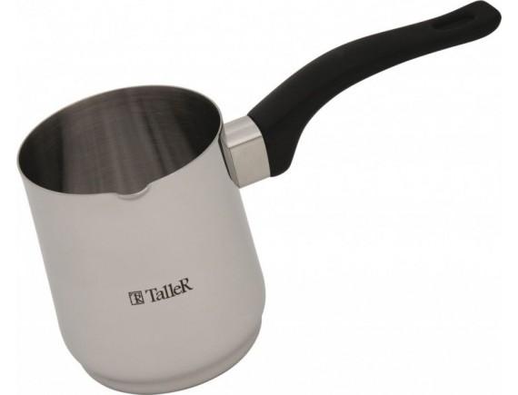 Турка для варки кофе, нержавеющая сталь 18/10, объем-0.6 л, TALLER. (TR-1332)