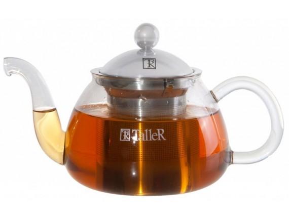 Чайник заварочный стеклянный, обьем-0,7 л, TALLER. (TR-1346)