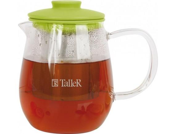 Чайник заварочный стеклянный, обьем-600 мл, TALLER. (TR-1360)