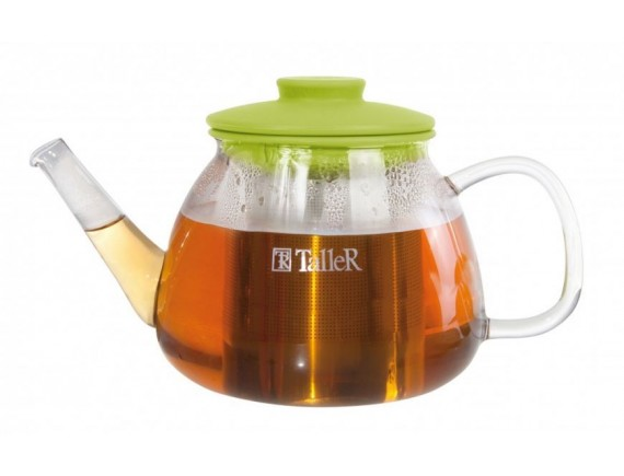 Чайник заварочный стеклянный, обьем-800 мл , TALLER. (TR-1361)