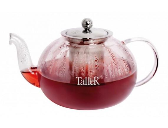 Чайник заварочный стеклянный, обьем-800 мл, TALLER. (TR-1370)