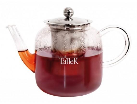 Чайник заварочный стеклянный, обьем-800 мл, TALLER. (TR-1371)