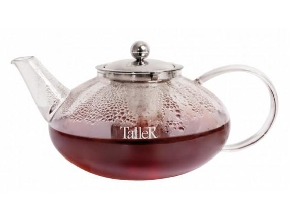 Чайник заварочный стеклянный, обьем-1250 мл, TALLER. (TR-1372)