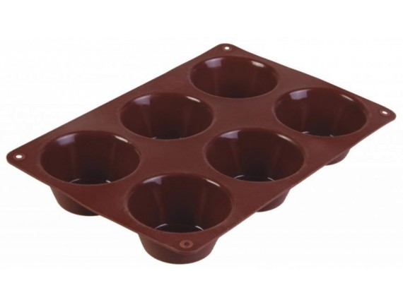 форма для выпечки маффинов, 24,7 х 16,5 х 3,3 см, материал – силикон, TALLER. (TR-6200)