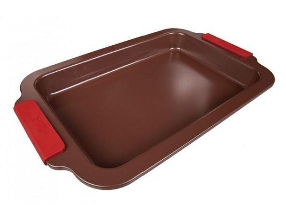Форма для выпечки прямоугольная, 36*23*4, материал-углеродистая сталь, покрытие-антипригарное керамическое