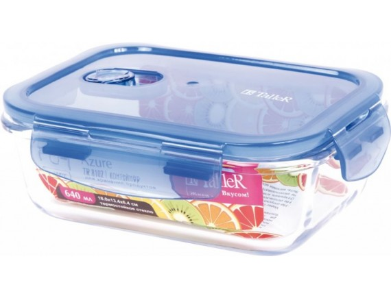Контейнер для продуктов с крышкой, обьем-1040 мл, TALLER. (TR-8103)