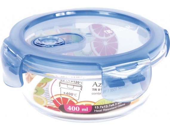 Контейнер для продуктов с крышкой, обьем-400 мл, TALLER. (TR-8111)
