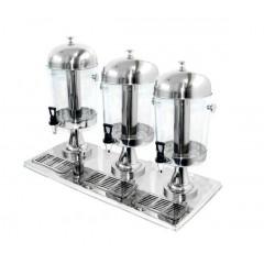 Диспенсер для напитков, 3 емкости по 8 л, VIATTO. (VJD-3)
